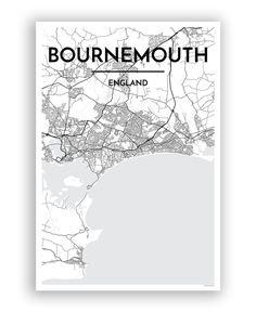 Bournemouth City Map