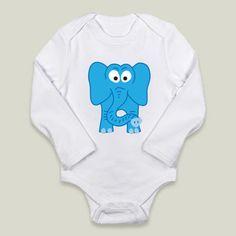 Fun Indie Art from BoomBoomPrints.com! https://www.boomboomprints.com/Product/calicoelephant/Elephant-_Blue/Long-Sleeve_Onesies/0-3M_Cloud_White_Long-Sleeve_Onesie/