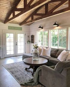 Cozy Rustic Farmhouse Living Room Remodel and Design Ideas 38 - HomeIdeas.co