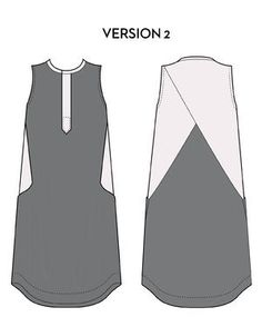 Hannah is a sleeveless dress with a subtle A-line shift silhouette. It features angled side seams and front pockets, which transition cleverly into folding side-panels that wrap around to the back and criss-cross over each other. The hemline, with its upward curve at the sides and a subtle dip in the back, takes its inspiration from men's shirting, A high neckline is edged with a double fold binding. The button up front is concealed with a hidden button placket for a minimal touch.