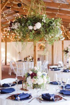 Romantic Twinkling Garden Wedding in Florida Whimsical Wedding Flowers, Floral Wedding, Wedding Centerpieces, Wedding Decorations, Table Decorations, Wedding Top Table, Twinkle Twinkle, Garden Wedding, Wedding Planning
