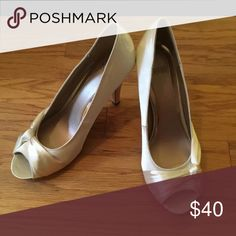 Size 10 high hells Creme colored high heels. Shoes Heels