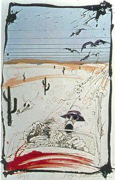 Fear and Loathing Illustrator, Ralph Steadman Psychedelic Art Gallery - Third Monk Ralph Steadman, Fear And Loathing, Psychedelic Art, Scary Drawings, Hunter S Thompson, Tinta China, Arte Horror, George Orwell, Art Google