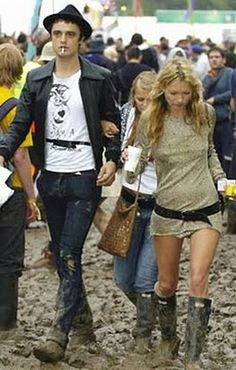 I've always loved this muddy photo of Kate and Pete. RIP: their love.