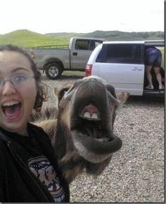 I can't tell who's is photobombing here.