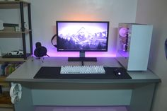 My simple setup. AGAIN! With better cable management both behind the desk and the PC! Check it out!