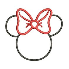 Applique Minnie Mouse Disney Inspired Machine Embroidery Designs - 3 Sizes Incl. - Instant Download