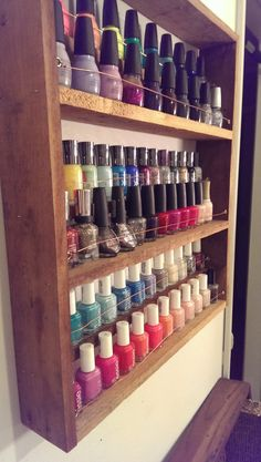 Nail Polish Rack, $49.00 -totally bought this...