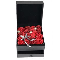 Adore Home Living - Luxury Soap Flowers Red Jewelry Box Red Jewelry, Jewellery Box, Jewelry Gifts, Artificial Flower Arrangements, Artificial Flowers, Bath Flowers, Flowers Australia, Rose Bath, Luxury Soap