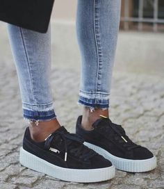 Rihanna Puma Creepers in black