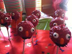 Elmo cake pops :)