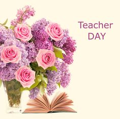 Top # 50 Awesome Teachers Day Images - Wishes Quotes Greetings Teacher Favorite Things, Best Teacher, Happy Teachers Day, Wish Quotes, Inspirational Quotes About Love, Teachers' Day, Floral Wreath, Awesome, Flowers