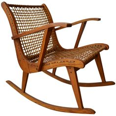 Mid Century Tubbs Vt Rocking Chair