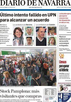 Los Titulares y Portadas de Noticias Destacadas Españolas del 2 de Marzo de 2013 del Diario de Navarra ¿Que le parecio esta Portada de este Diario Español?