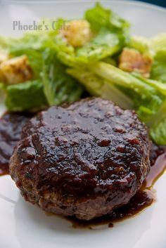 ソースがおいしいハンバーグステーキのレシピ,牛肉料理、豚肉料理、フュージョン料理、フライパン料理、グリル料理、お弁当のおかず、子供が好きなおかず