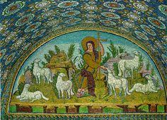 Mosaic of Jesus the Good Shepherd - Ravenna, 5th century