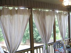 Remember my little teaser post last week about Project Patio Oasis? Well, drumroll please, it's time for the big reveal! I am excited to show you the drop cloth curtains for the screened in patio, but first some back story. Our screened-in back porch has never been anything spectacular. We added it onto the house …