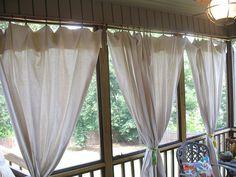 canvas drop cloths as curtains