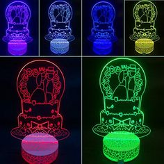 3D Illusion LED Night Light Wedding Cake By AZALCO * You can get additional details at the image link. (This is an affiliate link) #NurseryNightLights