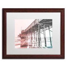 "Trademark Art Newport Pier Multicolor by Ariane Moshayedi Framed Photographic Print Size: 16"" H x 20"" W x 0.5"" D"