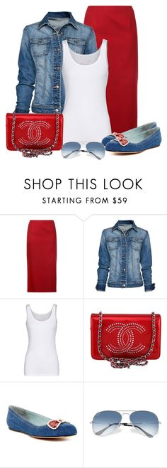 """Untitled #1411"" by gallant81 ❤ liked on Polyvore featuring Le Ciel Bleu, MANGO, Juvia, Chanel, Marc Jacobs and Ray-Ban"