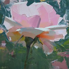 """Daily Paintworks - """"Underbelly Rose"""" - Original Fine Art for Sale - © Carol Marine Oil Painting Flowers, Abstract Flowers, Painting & Drawing, Contemporary Abstract Art, Abstract Landscape, Modern Art, Arte Floral, Acrylic Art, Painting Inspiration"""