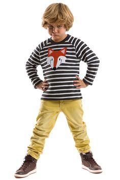 Mushi Boys' Fox Sweatshirt in Navy & White - Beyond the Rack 33$