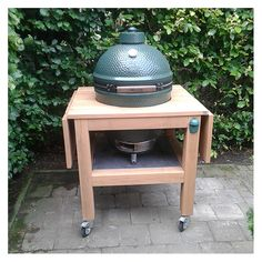 Could we add a drop down on ours? Big Green Egg Small, Green Egg Mini, Big Green Egg Table, Green Egg Grill, Green Eggs, Bbq Egg, Big Green Egg Outdoor Kitchen, Small Grill, Grill Table