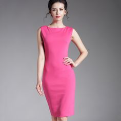 Vintage Pink Pencil Zipper Bodycon Dress Plus Size