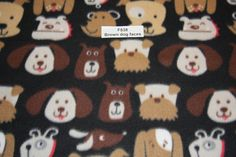 Brown Dog Fleece Fabric Dog blanket Fleece Quilting sewing crafts low price Anti Pill fleece fabric free shipping available- SHIPS FAST by FabricPremier on Etsy