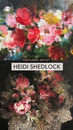 Our featured Artist this month is Heidi Shedlock, whose bright and expressive floral paintings celebrate the beauty in simple things 💐 South African Artists, Floral Paintings, High School Art, Large Painting, Mark Making, Simple Things, Something Beautiful, Postcard Size, Natural World