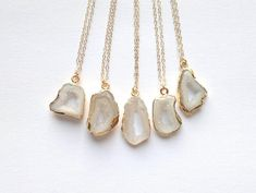 Dainty Gemstone Necklace Tiny Stone Necklace #jewelry #necklace @EtsyMktgTool http://etsy.me/2xXEG7S