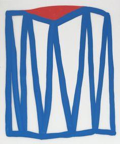 Cassie Jones | Works on Paper - Duralar V / #blue #white #red