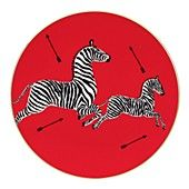 For my plate wall~ Scalamandre Zebra salad plate, Bloomingdales.