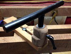 Treadle Lathe Tool Rest Final Version | The Renaissance Woodworker