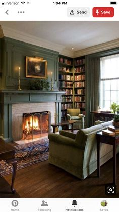 Hottest Pic traditional Fireplace Mantels Tips green floor family room traditio. - Hottest Pic traditional Fireplace Mantels Tips green floor family room traditional with fireplace m - Winter Living Room, Cozy Living Rooms, Home Living Room, Living Room Designs, Living Room Decor, Up House, Cozy House, Home Interior, Interior Design