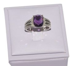 David Yurman Petite Wheaton Ring With Amethyst and Diamonds  Ring Size 6.5. Get the lowest price on David Yurman Petite Wheaton Ring With Amethyst and Diamonds  Ring Size 6.5 and other fabulous designer clothing and accessories! Shop Tradesy now