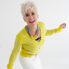 Energetic Style - Chic Over 50 | Fabulous After 40 - liking the stripes with the yellow