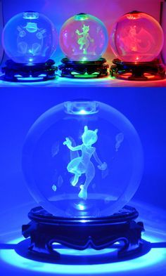 Light up your room the only way a Pokemon Master should with these etched crystal Pokeballs. Each one contains a Pokemon trapped inside that glows brightly when you switch on the LED light base. Guaranteed to impress any Pokemon fan! Pokemon Party, Pikachu, Cute Pokemon, Pokemon Fan, Pokemon Room, Mega Lucario, Pokemon Merchandise, Gotta Catch Them All, Kino Film