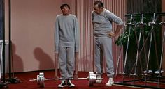 the nutty professor.  jerry lewis, 1963.  cartoonish to the next level.