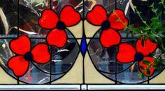 Traditional Poppy Stained Glass Window created by Neil Maciejewski 2013.   rayoflightglass.com Stained Glass Windows, Poppy, Pattern Design, Glass Art, Traditional, Texture, Create, Flowers, Etsy