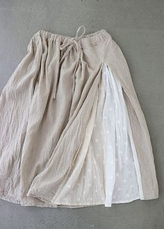 Blind bird 도트패치 린넨스커트(a) sewing clothes, diy clothes, clothes for women, co Skirt Fashion, Hijab Fashion, Diy Fashion, Fashion Outfits, Womens Fashion, Fashion Design, Sewing Clothes, Diy Clothes, Clothes For Women