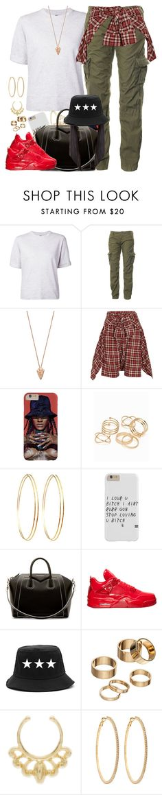 """""""My sets been weak lately"""" by dope-madness ❤ liked on Polyvore featuring Hope, Superdry, Pamela Love, R13, JFR, Jules Smith, Givenchy, Apt. 9 and Roberta Chiarella"""