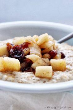 Apple Cinnamon Oatmeal Porridge Recipe
