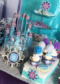 Frozen inspired birthday party via Kara's Party Ideas : The Sweet Treats