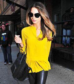 Lily Aldridge in not-so-mellow yellow.