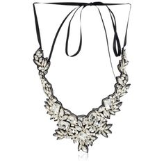 Ranjana Khan River Pearl and Distressed Crystal Branch Necklace: Jewelry: Amazon.com