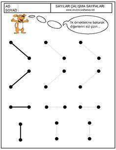 okul öncesi çizgi çalışmaları Preschool Writing, Preschool Learning Activities, Preschool Lessons, English Worksheets For Kids, Kids Math Worksheets, Pre-school Books, Visual Perception Activities, Prewriting Skills, Reading Comprehension Worksheets