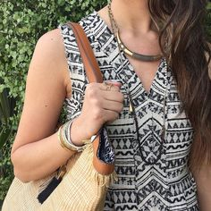 Our favorite Reina necklace can be worn as a necklace or wrapped as a bracelet. #stelladotstyle #ootd #summer #newarrivals