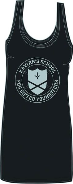 Xavier's School for Gifted Youngsters is recruiting! X-Men Xaviers School Juniors Tunic Tank T-Shirt
